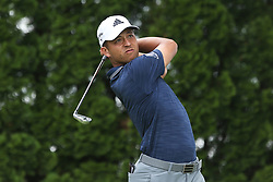 June 22, 2018 - Cromwell, Connecticut, United States - Xander Schauffele tees off the 9th hole during the second round of the Travelers Championship at TPC River Highlands. (Credit Image: © Debby Wong via ZUMA Wire)