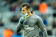 Martin Dubravka (#12) of Newcastle United during the warmup ahead of the Premier League match between Newcastle United and Watford at St. James's Park, Newcastle, England on 3 November 2018.