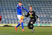 PENALTY Matt Lund is fouled by Lloyd Allinson during the EFL Sky Bet League 1 match between Rochdale and Chesterfield at Spotland, Rochdale, England on 26 December 2016. Photo by Daniel Youngs.