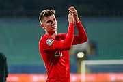England forward Mason Mount thanks fans at full time during the UEFA European 2020 Qualifier match between Bulgaria and England at Stadion Vasil Levski, Sofia, Bulgaria on 14 October 2019.