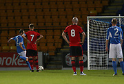 06/10/2017 - St Johnstone v Dundee - Dave Mackay testimonial at McDiarmid Park, Perth, Picture by David Young - Dave Mackay scores from the spot