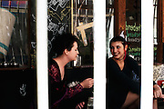 Young people enjoying coffee culture Melbourne City, Lane way Cafes Melbourne