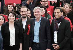 New Scottish Labour leader Richard Leonard, Sunday 19th November 2017<br /> <br /> New Scottish Labour leader Richard Leonard meets MPs, MSPs and volunteers on his first day in charge.<br /> <br /> Pictured: Monica Lennon, Martin Lennon, Richard Leonard and Anas Sarwar<br /> <br /> (c) Alex Todd | Edinburgh Elite media