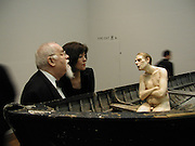 Peter Blake, Ron Mueck, Making sculpture at the National Gallery. Private view hosted by the National Gallery and Art Review. 18 March 2003. © Copyright Photograph by Dafydd Jones 66 Stockwell Park Rd. London SW9 0DA Tel 020 7733 0108 www.dafjones.com