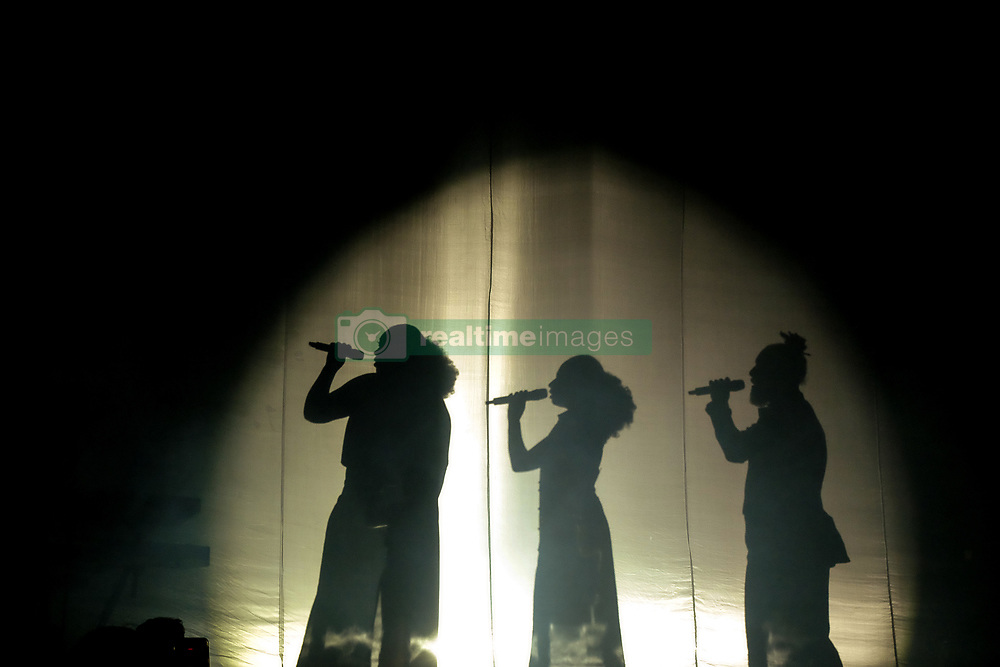 April 28, 2019 - Torino, Torino, Italy - The International Italian singer, Marco Mengoni , restarts with his ''Atlantic Tour '' from the stage  Pala-Alpitour in Turin. (Credit Image: © Bruno Brizzi/Pacific Press via ZUMA Wire)