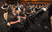 The Marshall Middle School Advanced Band performs during the Houston ISD State of the Schools luncheon at the Hilton of the Americas, February 26, 2014.