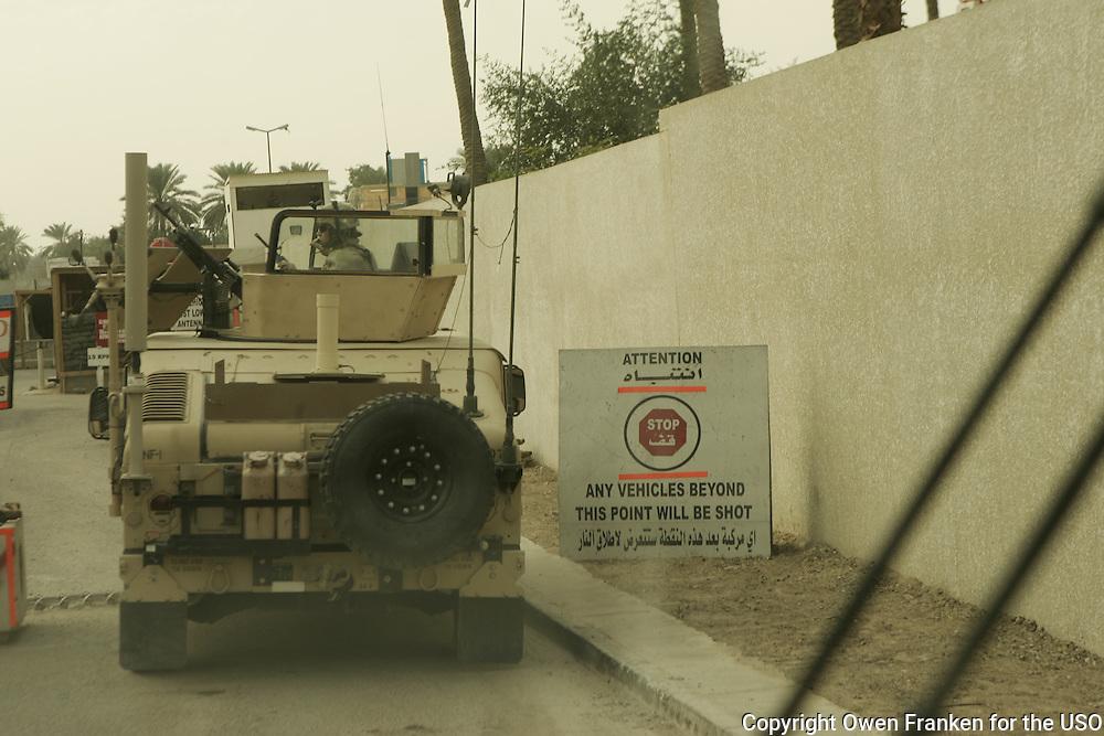 on road in baghdad