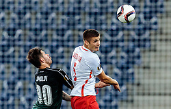 15.09.2016, Red Bull Arena, Salzburg, AUT, UEFA EL, FC Red Bull Salzburg vs FC Krasnodar, Gruppe I, 1. Runde, im Bild Fedor Smolov (FC Krasnodar), Duje Caleta-Car (FC Red Bull Salzburg) //during the UEFA Europa League, group I, 1st round match between FC Red Bull Salzburg and FC Krasnodar at the Red Bull Arena in Salzburg, Austria on 2016/09/15. EXPA Pictures © 2016, PhotoCredit: EXPA/ JFK