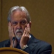 HOLLYWOOD, FLORIDA, JULY 5, 2017<br /> James Mitchell, PHD, a clinical psychologist who worked for the CIA and helped developed the agency's controversial enhanced interrogation techniques. Mitchell interrogated some of the world's most infamous terrorists. He has a book on the topic and this is a presentation of the book in a MENSA conference in Florida.<br /> (Photo by Angel Valentin/Freelance)