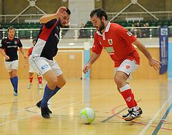 Bristol City Futsal challenge for the ball. - Photo mandatory by-line: Nizaam Jones - Mobile: 07583 387221 - 02/11/2014 - SPORT - Futsal - Gloucester - Gloucester University - v BCFC Futsal- Sport