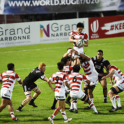 Hisanobu Okayama of Japan during the U20 World Championship match between New Zeland and Japan on May 30, 2018 in Narbonne, France. (Photo by Alexandre Dimou/Icon Sport)