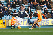 Millwall FC Forward Aiden O'Brien runs goal-wards  during the Sky Bet League 1 match between Millwall and Colchester United at The Den, London, England on 21 November 2015. Photo by Andy Walter.