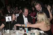 Mr.and Mrs. William Boyd, Ian Hislop and Amanda Ross.  Costa Book Awards 2006. Grosvenor House Ballroom. Park Lane, London. 7 February 2007. -DO NOT ARCHIVE-© Copyright Photograph by Dafydd Jones. 248 Clapham Rd. London SW9 0PZ. Tel 0207 820 0771. www.dafjones.com.