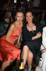 ALLEGRA HICKS and CELIA FORNER VENTURI at a party hosted by Allegra Hicks and Melissa Del Bono to celebrate the opening of Volstead, Swallow Street, London W1 on 4th May 2006.<br /><br />NON EXCLUSIVE - WORLD RIGHTS