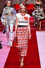 Dolce Gabbana Fashion Show - 24 Sep 2017