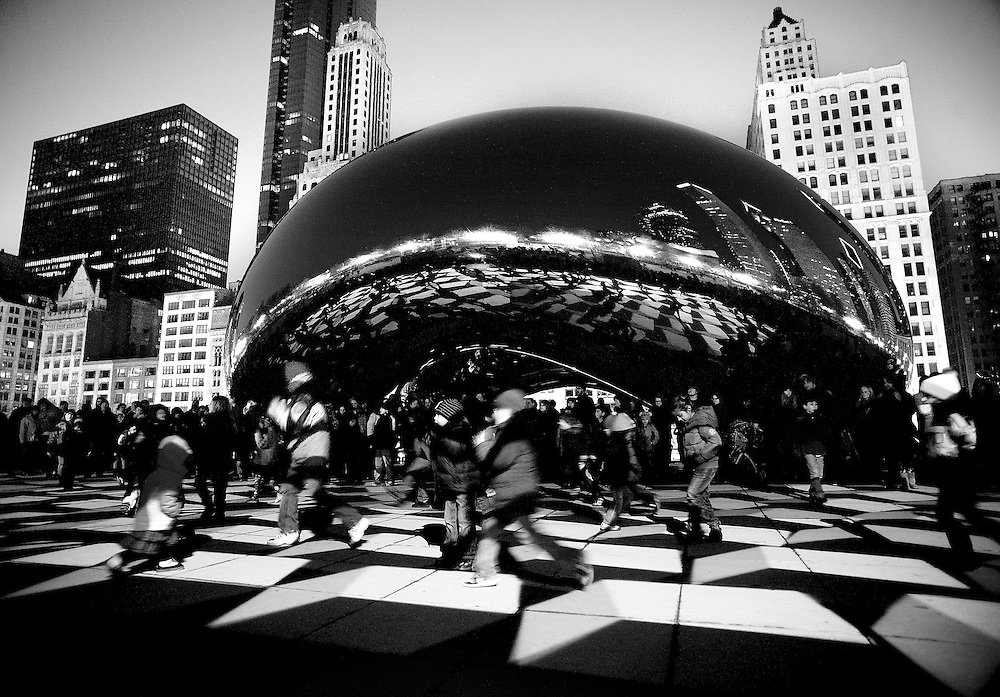 Photo By Michael R. Schmidt.The Bean, Millenium Park Chicago, IL 2012.