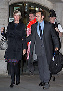 Andy Coulson  leaves the Old Bailey with wife Eloise after it was revealed that Coulson &amp; Brooks had a six year affair on October 30, 2013.<br /> <br /> Brooks will stand trial alongside former managing editor Stuart Kuttner; former news editor Ian Edmondson; and Rebekah Brooks. All deny conspiracy to intercept mobile phone voicemail messages. Coulson and former NotW royal editor Clive Goodman deny charges of conspiracy to commit misconduct in a public office. Brooks also denies two charges of this. She also faces charges of conspiracy to pervert the course of justice, along with former personal assistant Cheryl Carter, 49, husband Charlie Brooks, 50, and NI head of security Mark Hanna, 50. <br /> Photo Ki Price