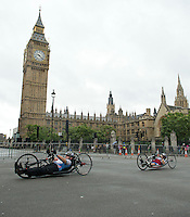 Prudential RideLondon Handcycle Classic <br /> Parliament Square<br /> <br /> Prudential RideLondon, the world's greatest festival of cycling, involving 70,000+ cyclists – from Olympic champions to a free family fun ride - riding in five events over closed roads in London and Surrey over the weekend of 9th and 10th August. <br /> <br /> Photo: Thomas Lovelock for Prudential Ride London<br /> <br /> See www.PrudentialRideLondon.co.uk for more.<br /> <br /> For further information: Penny Dain 07799 170433<br /> pennyd@ridelondon.co.uk