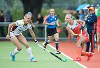 SCHIEDAM - Lauren Stam (Ned) met links Jill BOON (Bel)  tijdens een oefenwedstrijd tussen  de dames van Nederland en Belgie , in aanloop naar het  EK Hockey, eind augustus in Amstelveen. COPYRIGHT KOEN SUYK