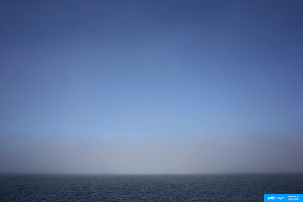 Sea Mist on the Nantucket Sound seen from the Ferry traveling between Hyannis and Nantucket Island, Massachusetts, USA. Photo Tim Clayton