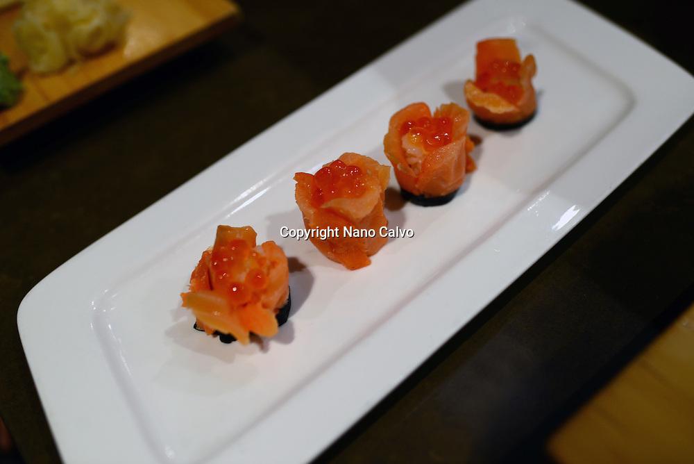 Delicious sushi by chef Norihiko Suzuki at Ebisu Japanese restaurant, San Francisco.
