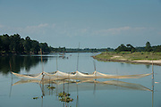 Cantilever fish net<br /> Mising Tribe (Mishing or formally Miri Tribe)<br /> Majuli Island, Brahmaputra River<br /> Largest river island in India<br /> Assam,  ne India