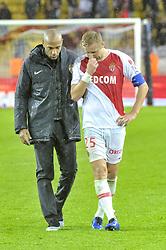 October 27, 2018 - Monaco, Monaco - Thierry Henry (entraineur de l AS Monaco) - Kamil Glik  (Credit Image: © Panoramic via ZUMA Press)
