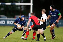 Magnus Lund of Sale Sharks in action - Mandatory by-line: Matt McNulty/JMP - 19 August 2016 - RUGBY - Heywood Road Stadium - Manchester, England - Sale Sharks v Edinburgh Rugby - Pre-Season Friendly