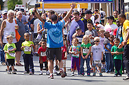 Middletown, New York - Children get ready for a kids race at the Middletown YMCA Funzone  during the Orange Regional Medical Center's Run 4 Downtown road race on Aug. 16, 2014.