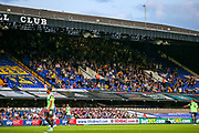 AFC Wimbledon away fans in the stands during the EFL Sky Bet League 1 match between Ipswich Town and AFC Wimbledon at Portman Road, Ipswich, England on 20 August 2019.