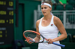 LONDON, ENGLAND - Monday, July 4, 2016:  Yaroslava Shvedova (KAZ) during the Ladies' Single 4th Round match on day eight of the Wimbledon Lawn Tennis Championships at the All England Lawn Tennis and Croquet Club. (Pic by Kirsten Holst/Propaganda)