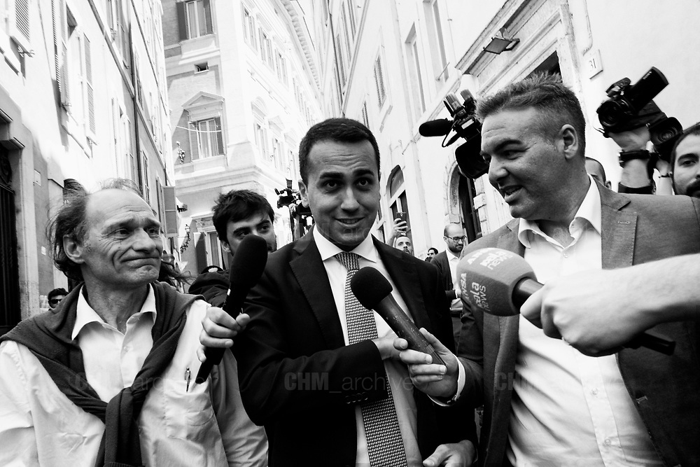 Leader of Five Stars movement, Luigi Di Maio, leaves the parliament after a new day of meetings for the formation of the new government on April 26, 2018 in Rome, Italy. Christian Mantuano / OneShot