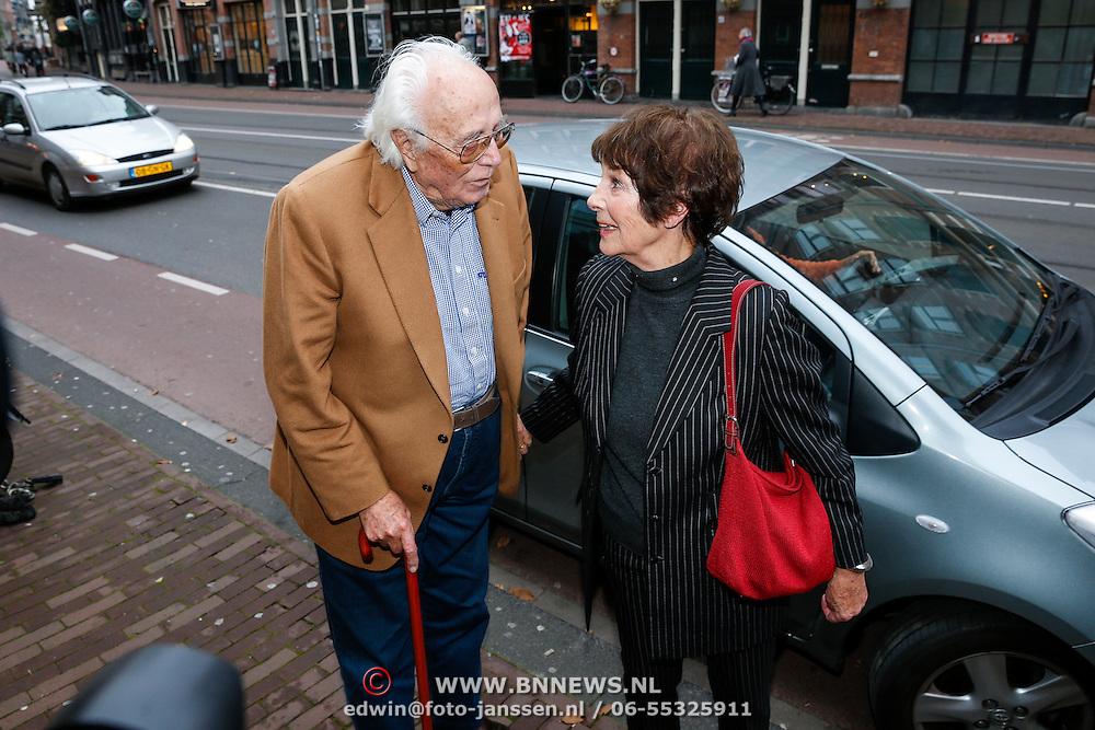 NLD/Amsteram/20121024- Presentatie biografie Joop van den Ende, Mies Bouwman en partner Leen Timp