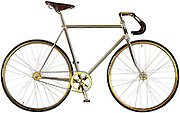 You won't get one of those in Halfords! World's most expensive bike is coated in 24-carat gold and has 600 Swarovski crystals... but will cost you £67,000<br /> <br /> This is one bike you wouldn't want to leave locked up outside. <br /> <br /> The set of wheels has been coated in 24-carat gold and costs £67,000. <br /> <br /> It was made by the Scandinavian company Aurumania and even features 600 Swarovski crystals. Only 10 have been made because of their cost but one buyer in London has mounted the bike on their wall as a piece of artwork. <br /> <br /> Aurumania also designed a special mount for bike – also made of 24-carat gold, of course.<br /> <br /> Each bike was hand-built and plated with 24-carat gold. <br /> <br /> The handlebar grips are made of hand-sewn, chocolate-brown leather and a moulded Brooks leather saddle provides exactly the right nostalgic touch. he Aurumania logo appears stylishly along the crossbar while its crowning glory is the limited-edition number discreetly embossed with gold leaf and set into a leather badge placed prominently on the front of the bike. <br /> <br /> The company got its name from the Latin word for gold, aurum, and mania and  work solely with luxury products. <br /> ©Aurumania/Exclusivepix