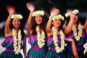 Hula Dancers, Waikiki, Oahu, Hawaii