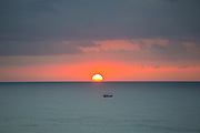 Sunset, Waikiki Beach, Oahu, Hawaii