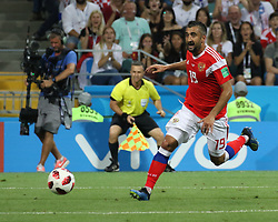 July 7, 2018 - Sochi, Russia - July 07, 2018, Sochi, FIFA World Cup 2018, the playoff round. 1/4 finals of the World Cup. Football match Russia - Croatia at the stadium Fisht. Player of the national team Alexander Samedov. (Credit Image: © Russian Look via ZUMA Wire)