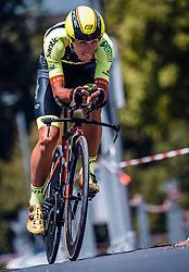 06.07.2019, Wels, AUT, Ö-Tour, Österreich Radrundfahrt, Prolog, Einzelzeitfahren (2,5 km), im Bild Jose Manuel Diaz Gallego (Team Vorarlberg Santic, ESP) // during the prolog, Individual time trial (2,5 Km) of the 2019 Tour of Austria. Wels, Austria on 2019/07/06. EXPA Pictures © 2019, PhotoCredit: EXPA/ JFK