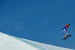 PYEONGCHANG, SOUTH KOREA - FEBRUARY 16:  Michela Moioli of Italy during the Ladies' Snowboard Cross on day seven of the PyeongChang 2018 Winter Olympic Games at Phoenix Snow Park on February 16, 2018 in Pyeongchang-gun, South Korea. Photo by Ronald Hoogendoorn / Sportida