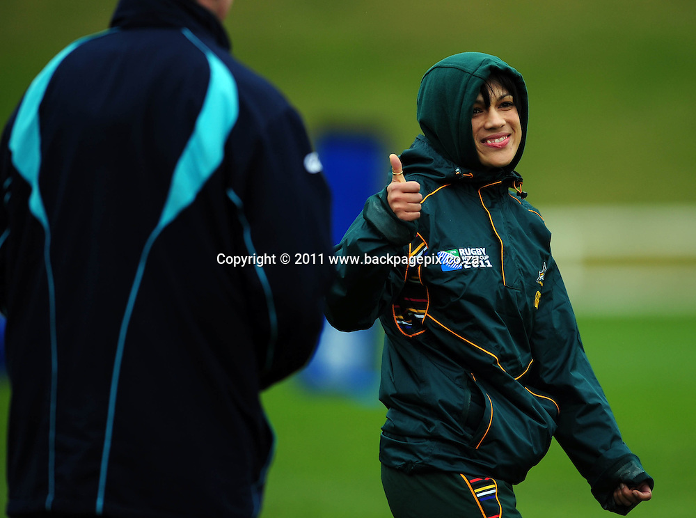 Rene Naylor (physiotherapist) of South Africa Rugby - 2011 Rugby World Cup - South Africa Training - Day 18 - Taupo<br /> &copy; Barry Aldworth/Backpagepix