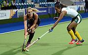 Sophie Cocks during a Black Sticks Women v South Africa preliminary pool match at the Glasgow National Hockey Stadium. Glasgow Commonwealth Games 2014. Monday 28 July 2014. Scotland. Photo: Andrew Cornaga/www.Photosport.co.nz