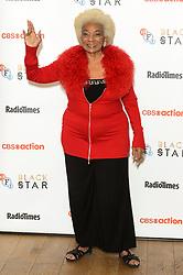 © Licensed to London News Pictures. 01/10/2016. Nichelle Nichols, Star Trek's original Lieutenant Uhura celebrates Star Trek at 50 at BFI Southbank. London, UK. Photo credit: Ray Tang/LNP