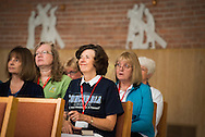 Deaconess Juliet Thompson attends a noon prayer service during the Grace Place Deaconess retreat on Wednesday, Oct. 8, 2014, at the Mercy Conference and Retreat Center chapel in Frontenac, Mo. LCMS Communications/Erik M. Lunsford