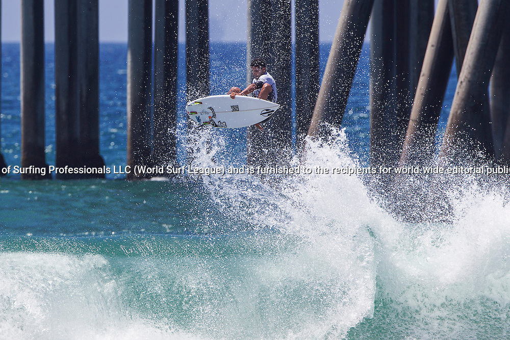 HUNTINGTON BEACH, CA, USA - Wednesday July 29th 2015 -  Michael Rodrigues (BRA) won his heat and advanced into round 3 of the Mens QS10,000 at the Vans US Open of Surfing. <br /> Image: &copy; WSL/Rowland<br /> Photographer: Rowland<br /> Social Media: @wsl @nomadshotelsc<br /> This Image is the Copyright of the World Surf League. It is for editorial use only. No commercial rights granted.