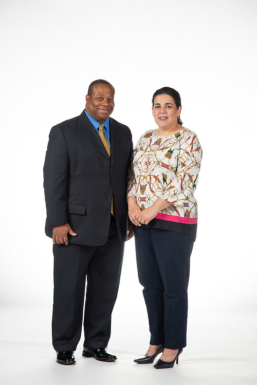 Bernard Willingham, Supplier Diversity Team Lead (left), and Alexis Licata, General Manager of Business Assistance
