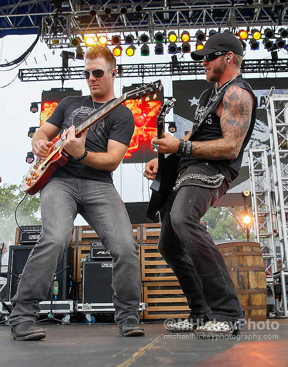 Country music artist Brantley Gilbert performs in concert at the Indianapolis Motor Speedway during Brickyard 400 weekend.