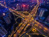 Aerial View Of Jinan's Yanshan Overpass