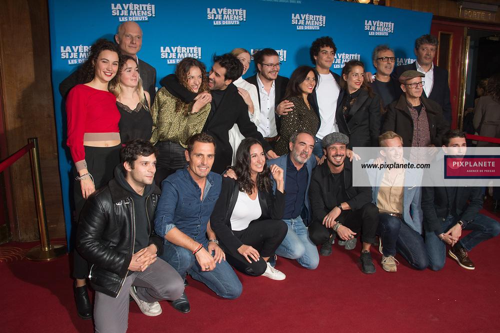 Bruno Solo et toute l'équipe du film Avant première du film La vérité si je mens les débuts Mardi 15 Octobre 2019 Le Grand Rex Paris
