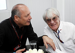 Motorsports / Formula 1: World Championship 2010, GP of Brazil, Ron Dennis (GBR, Vodafone McLaren Mercedes), Bernie Ecclestone (GBR, President and CEO of Formula One Management and Formula One Administration)
