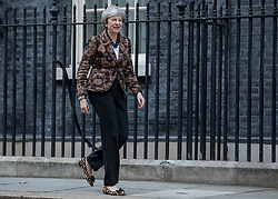 © Licensed to London News Pictures. 21/01/2019. London, UK. Prime Minister Theresa May leaves 10 Downing Street to greet Prime Minister of New Zealand Jacina Ardern. Photo credit: Rob Pinney/LNP